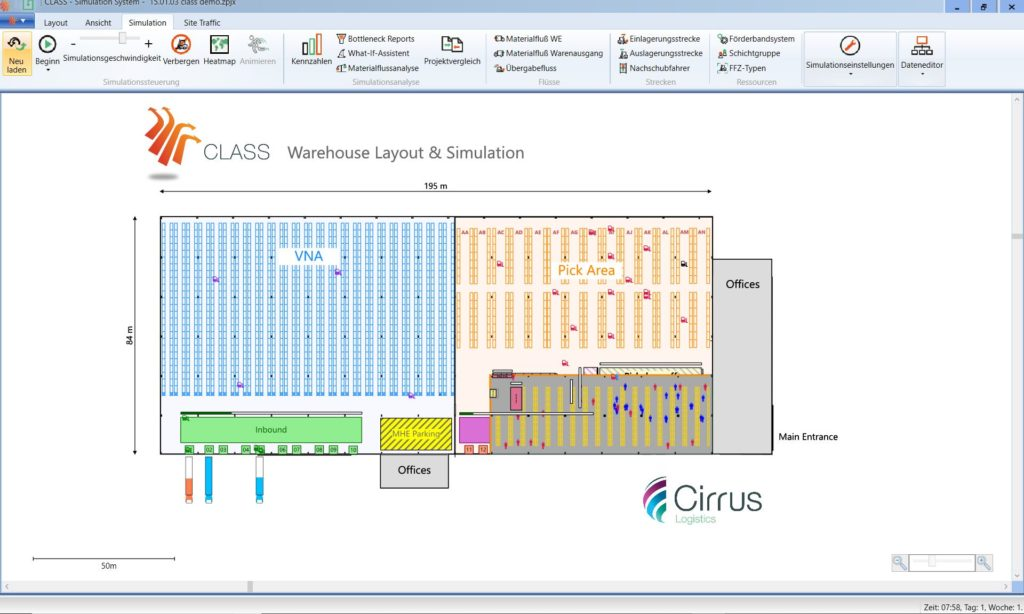 CLAAS Screenshot Simulation 2D